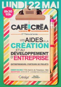 les aides à la création et au développement d'entreprise café créa