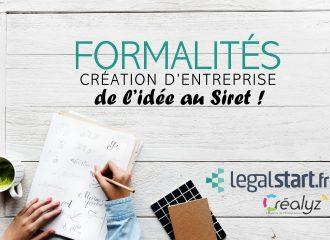 formalités de création d'entreprise